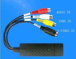 Wholesale Capture Dvd Audio - Easycap USB 2.0 Video Audio VHS to DVD Converter CVBS S-VIDEO Capture Card Adapter High Quality 64Bit Support