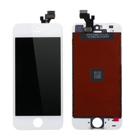 Wholesale Black Iphone Lcd Oem - OEM Replacement LCD Display Touch Screen Digitizer Frame Assembly Set for iPhone 5 5S 5C Grade AAA White Black