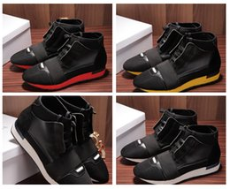 Wholesale Wide Cloth - 2017 Original Box Name Brand Unisex Casual Shoes Flat Fashion Socks Boots Woman New Elastic Cloth High Top Runner Man Shoes Outdoors