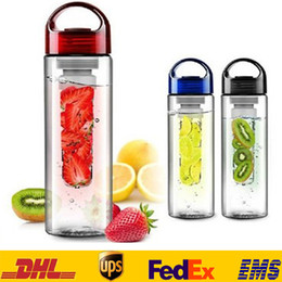 Wholesale Fruit Water Infuser - Hot 700Ml 500ML Fruit Juice Infusion Infuser Water Bottles Sport Outdoor Health Flip Lid Gifts HH-B01
