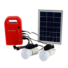 Wholesale Portable Power Supplies - 2017 Solar Lamp Garden Light Small Solar Generator Field Emergency Charging Led Lighting System Home Power Supply With Lamps