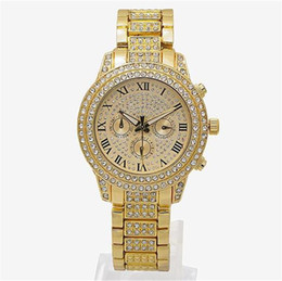 Farben beobachten online-Luxury Watches Womens Diamonds Watches 3 Eyes Women Bracelet Ladies Designer Wristwatches 3 Colors Wholesale Free Shipping