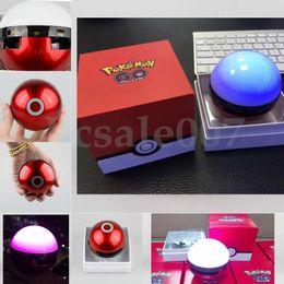 Wholesale Dancing Mp3 - Poke Mon Bluetooth Speaker Colorful Night Light LED Dance Magic Pokeball Elves Ball Wireless Stereo Music TF card MP3 Subwoofer