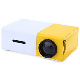 2019 tablet proiettore dlp All'ingrosso- AAO YG300 Mini proiettore LCD portatile 320 x 240 Pixel Supporto 1080P con AV / USB / scheda SD / Interfaccia HDMI