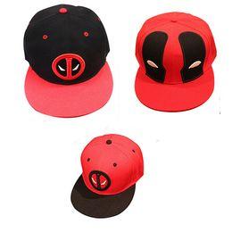 Wholesale Marvel Hats - Marvel Deadpool Hat Snapback bone Aba Reta Costumes Cotton Baseball for Men Women Sports Hip Hop Cap