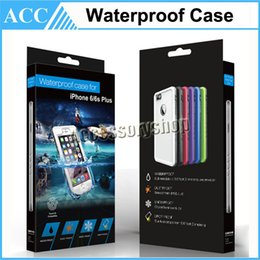 Wholesale Plastic Id Cover - Waterproof Touch ID Compatible Case Shockproof Dirt proof Fingerprint Case Cover for iPhone 6 6S Plus
