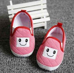 Wholesale Red Crib Shoes - 0-12 Months Cute Love Baby Girls Infant Crib Shoes Soft Sole Anti-slip Comfort Toddler Shoes