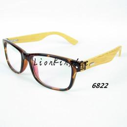 Wholesale Japan Eyewear - 12PCS Classics Wood Optical Glasses Japan Trendsetter Bamboo Legs Eyeglasses Frames Optical Eyewear Clear Lense Oculos 4 colors WL6822