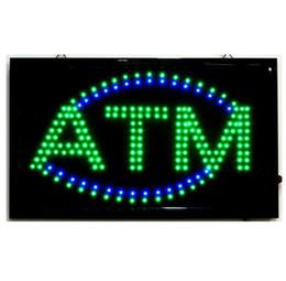 ирландские таблички Скидка Оптовая торговля-высокое качество анимированные LED ATM LED неоновый знак яркий мигающий цвет LED ATM знак дисплей висит свет