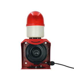 Wholesale Burglar Alarm Sirens - SF-523 Small Warning Beacon Light Siren Waterproof Audible and Visual Alarm Device Customized Alarm Sound Burglar Alarm 12V 24V AT