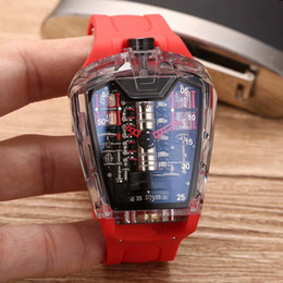 Wholesale Mps Watches - 2017 top luxury brand men transparent watch new MP-05 mineral tempered glass mirror Swiss brand automatic mechanical natural rubber strap cl