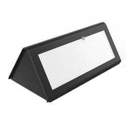 Wholesale Power Radars - Solar Powered Light Outdoor Radar Sensor LED Wall Light Garden Lamp ABS+PC Cover 6W 800lm Waterproof Bulb