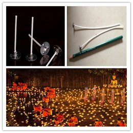 Wholesale Pre Packs - New 100 pcs  pack 100mm Candle Wicks Pre Waxed PreTabbed With Sustainers Cotton Coreless Candles Wick Home Decor House Tool Tools DIY Gift