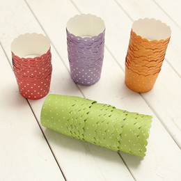 Wholesale Paper Disposable Cups Cute - 50Pcs Lot Random Color Hot Sale Cute Paper Cake Cup Liners Baking Cup Muffin Kitchen Cupcake Cases Decorating Baking Tools