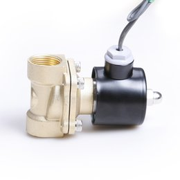 "Wholesale Gas Solenoid Valve - 3 4"" Brass Electric Solenoid Valve 12V 1.0Mpa for Water, Air, Fuels, Gas, Oil"