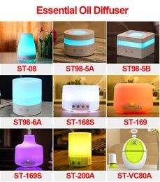 Wholesale Function Office - Newest 100ml LED Aroma Humidifier Aromatherapy Essential Oil Diffuser Ultrasonic Cool Mist Function for Home Office Bedroom Room ST98-6A
