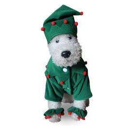 Wholesale Santa Christmas Pet Costumes Wholesale - Claus Dog Costume Santa Elf Pet Cat Coat Winter Clothes Christmas Apparel Cotton Clothing for dogs
