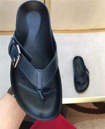 Wholesale Cheap Sandal Heel Platform - High Quality Cheap Men's Flip Flops Casual Summer Mens Slippers Beach Sandals Fashion Slides Platform Shoes Genuine Leather Flat Wholesale
