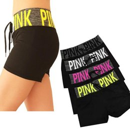 Wholesale Fitness Pants Shorts - Pink Yoga Gym Pants VS Short Pants Women Fitness Casual Shorts Quick-dry Running Beach Shorts Leisure Jogging Summer Shorts CCA7825 10pcs