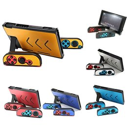 Wholesale Nintendo Shell - Aluminum Metal Portable Back Protective Case Hard Shell Cover for Nintendo Switch NS NX Joy-Con Controller DHL FEDEX FREE SHIPPING
