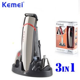 Wholesale Men Electric Nose Hair Trimmer - KEMEI 3 in 1 Professional High Precision Hair Clipper Nose Hair Shaver Beard Hair Trimmer maquina de cortar o cabelo BT-103