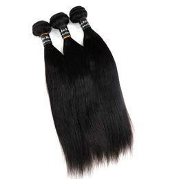 Armadura de cabello humano brasileño virginal Cabello liso Paquetes tramas 8 ~ 34 pulgadas Extensiones del cabello teñibles de la India peruana de Malasia desde fabricantes