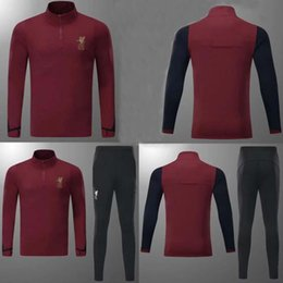 Wholesale Henderson Suits - AAA+quality2017 2018 COUTINHO Football jacket tracksuit 17 18 LALLANA de foot GERRARD MANE FIRMINO HENDERSON jacket Training suit SIZE S-3XL
