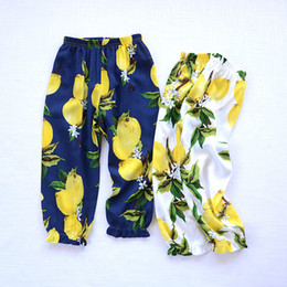 Wholesale Baby Floral Harem Pants - Baby Kids Clothing Summer Girl Floral Pants Casual Pants For 1~7 Years Kids 5 P l