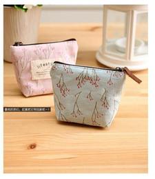 Wholesale Flower Pencil Cases - 1000pcs Flower Floral Pencil Pen Canvas Case Cosmetic Makeup Tool Bag Storage Pouch Purse