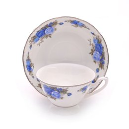 Wholesale Set Fine Bone - Fine bone china coffee cup & Tea cup with saucer in Sets European Noble Style weddinig gift B15