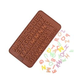 Wholesale Letter Sugar - 200pcs Wholesale Double 26 Letters Shape Food Grade Silicone Chocolate Mold , Ice, Cupcake, Lollipop,& Sugar Tool ZA0579