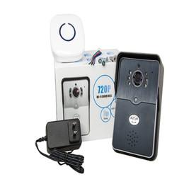 Wholesale Door Phone Bell - 2016 new WIFI Video Doorbell 0.3MP Network Home Doorphone Wireless Visual Phone Control Outdoor   Indoor Door Bell with Camera