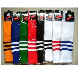 Wholesale Thin Tube Socks - Knee-high Tube Men Women Sports Thin Football Socks Soccer Long Stocking Breathable Striped Adult towel Absorbing