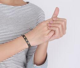Wholesale Top Selling Bangle Bracelets - Top sell Fashion Hematite With Ceramic Titanium Bracelet Good for Health Energy Bracelet Men 316L Stainless Steel Bio Magnetic Bracelet
