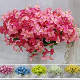 Wholesale Wedding Basket Floral - Simulation Floral Handmade Silk Flower Mini Hydrangea macrophylla Fake Flowers E00021 SMAD
