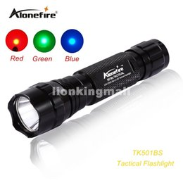 Wholesale cree red hunting lights - 501B CREE XML T6 Outdoor Hunting Tactical Flashlight Green Red Blue Light LED Tactical Flashlight Torch Lanterna Mini Torch