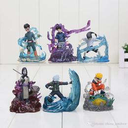 Wholesale Naruto Uzumaki Action Figures - 6Pcs set 7cm Naruto Orochimaru Rock Lee Neji Sasuke Gaara Shikamaru Kakashi Uzumaki PVC Action Figure Model Toy