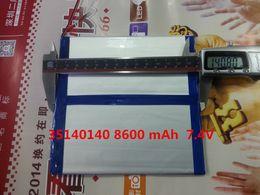 Wholesale Tablets V9 - 1 batterys U9GT2 U19GT Vido N90 Newman 19 A1 dual engine 3670140 36140140 8600 mAh Chi V9 Battery DIY 7.4V Tablets Batteries