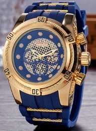 Wholesale Big Bang Watch Strap - invicta Best Halloween men birthday gift Quality Big Bang Dials Luxury Styles Mens Watches Quartz Watch Silicone Straps