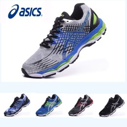Wholesale hockey free - New design Asics Nimbus17 Running Shoes Men Shoes Breathable Athletics Discount Sneakers Sports Shoes Free Shipping Size 40-45