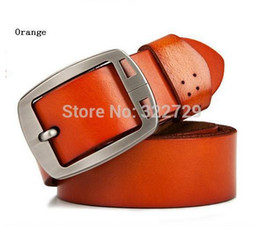 Wholesale fancy jeans - COWATHER 100% cowhide genuine leather belts for men brand Strap male pin buckle fancy vintage jeans cintos