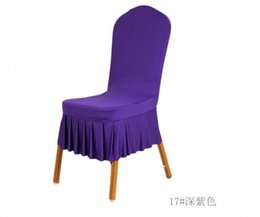 Wholesale Gold Satin Chair Covers - Classic Werstern Purple Satin Chair Covers 45*45*55CM Stretch Wedding Supplies Desk Chair Covers Special Occasion Hotel Wedding Chair Covers