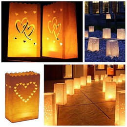 Wholesale Christmas Luminary Bags - 500PCS Fireproof Paper Candle Bags for wedding birthday party christmas  valentine's day,Luminary candle bags