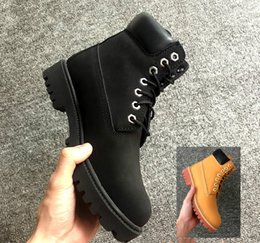 Wholesale Cheap Women Rubber Toe Boots - Top Quality Yellow Martin Boots Cheap Price Classic Brand Designer Premium Boots Men Women Fashion Outdoor Waterproof Ankle Leather Boots
