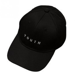 Wholesale Tall Men Hot - 2017 Unisex Embroidery Youth Letter Baseball Cap Man and woman Snapback Hip Hop Flat Hat Black White Hot Pink dad cap PROMOTION