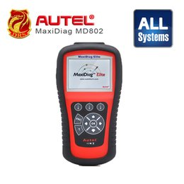 Wholesale Scanner Maxidiag - 100% Original AUTEL MaxiDiag Elite MD802 All system + DS model 4 in 1 auto scanner Autel MD802 PRO (MD701+MD702+MD703+MD704)