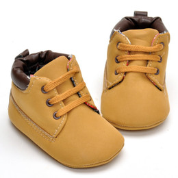 Wholesale Leather Soft Soled Baby Shoes - Retail 2016 Winter Warm Infant Baby Girls Boys Soft Sole Antiskid Shoes Nubuck leather Prewalker First Walkers Toddler Shoe
