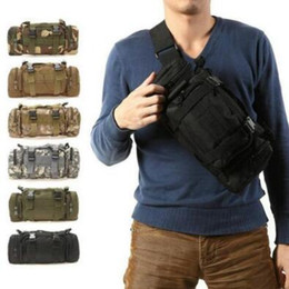 Wholesale Tactical Molle Fabric - 9 Colors Waterproof Oxford Fabric Climbing Bags Outdoor Military Tactical Waist Pack Molle Camping Hiking Pouch Bag CCA7341 30pcs