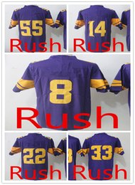 Wholesale Cooking Logos - 2017 Men's 8 Sam Bradford Jersey 14 Stefon Diggs 22 Harrison Smith 33 Dalvin Cook 55 Anthony Barr Embroidery Logos Color Rush Jerseys