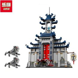 Wholesale Ultimate Action Figures - NEW LEPIN Ninja 06058 1501pcs Temple Ultimate Ultimate Weapon anime action figures Building Block Bricks Toys for children 70617